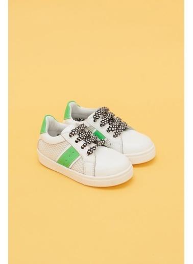 BG Baby Erkek Bebek Beyaz Ayakkabı Beyaz